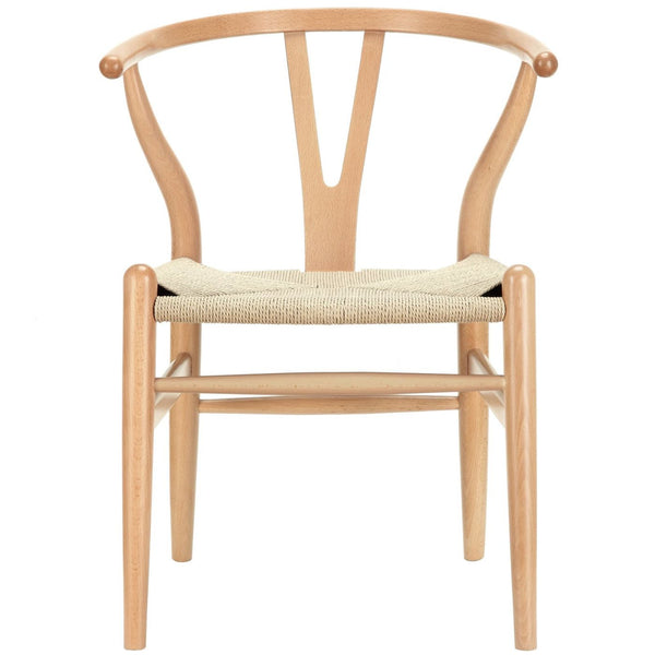 Dining Chairs - Modway EEI-552-NAT Hans Wegner Style Wishbone Dining Armchair Wood | 848387025243 | Only $168.05. Buy today at http://www.contemporaryfurniturewarehouse.com