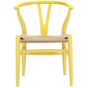 Modway EEI-552-YLW Hans Wegner Style Wishbone Dining Armchair Wood | 848387000387 | $166.00. Dining Chairs. Buy today at http://www.contemporaryfurniturewarehouse.com