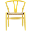 Dining Chairs - Modway EEI-552-YLW Hans Wegner Style Wishbone Dining Armchair Wood | 848387000387 | Only $166.00. Buy today at http://www.contemporaryfurniturewarehouse.com