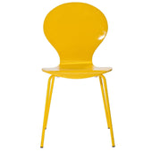 Insect Dining Wood Side Chair Yellow