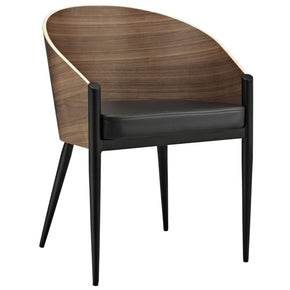 Cooper Dining Wood Armchair Walnut Chair