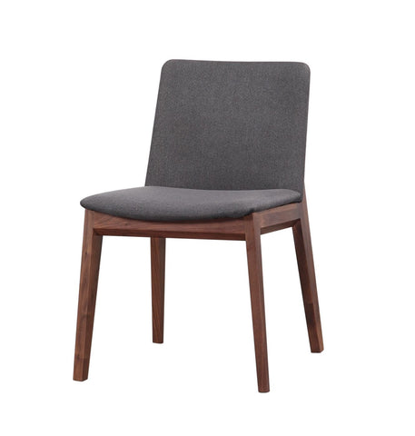 Dining Chairs - Moes Home Collection BC-1016-25 Deco Dining Chair Grey Solid American Walnut (Set Of 2) | 849043044660 | Only $668.00. Buy today at http://www.contemporaryfurniturewarehouse.com