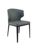 Delaney Side Chair Grey Vegan Leather (Set Of 2)