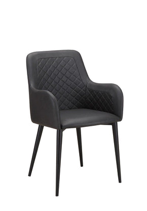 Dining Chairs - Moes Home Collection ER-2040-02 Cantata Diamond Tufted Dining Chair Black (Set of 2) | 849043060882 | Only $518.00. Buy today at http://www.contemporaryfurniturewarehouse.com