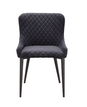 Dining Chairs - Moes Home Collection ER-2047-25 Etta Dining Chair Dark Grey Velvet | 849043073097 | Only $225.00. Buy today at http://www.contemporaryfurniturewarehouse.com