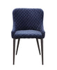 Etta Dark Blue Velvet Dining Chair