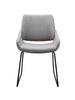 Dining Chairs - Moes Home Collection HK-1014-29 Lisboa Dining Chair Light Grey | 849043077644 | Only $225.00. Buy today at http://www.contemporaryfurniturewarehouse.com