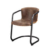 Benedict Dining Chair - Light Brown (Set Of 2) Top Grain Distressed Leather