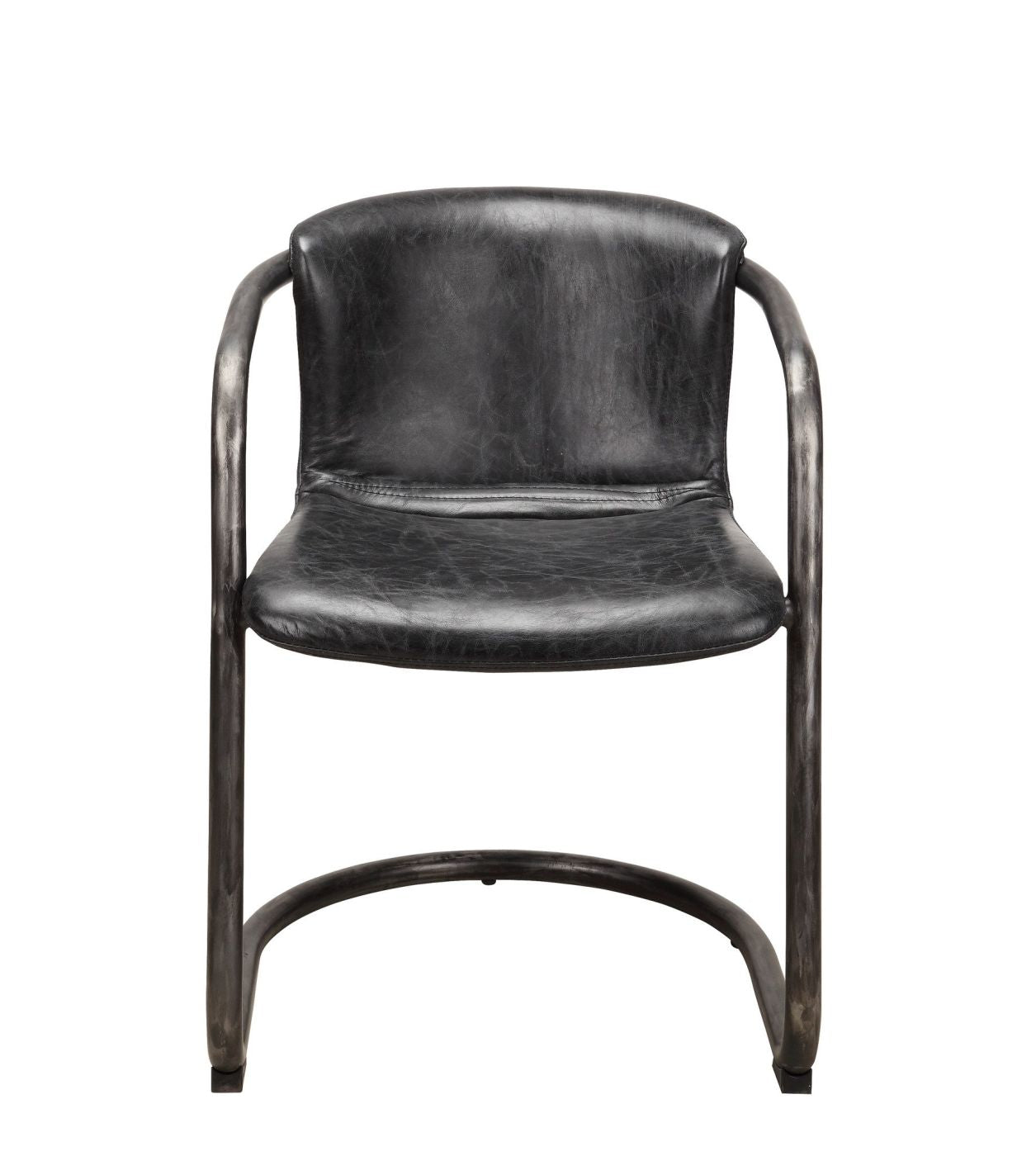 Picture of: Best Price On Moe S Home Collection Pk 1059 02 Freeman Modern Industrial Dining Chair Antique Black Distressed Leather Set Of 2 Only 1 024 00 At Contemporary Furniture Warehouse