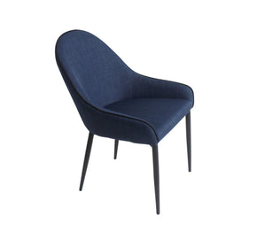 Lapis Upholstered Dining Chair Dark Blue (Set Of Two)