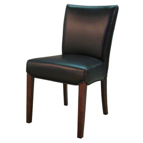 Beverly Hills Bonded Leather Chair Black Set Of 2 Dining