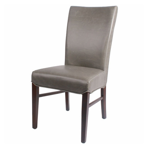 Milton Bonded Leather Chair Wenge Legs Vintage Gray (Set Of 2) Dining