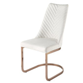 Kyla Chair Rose Gold Legs White (Set Of 4) Dining