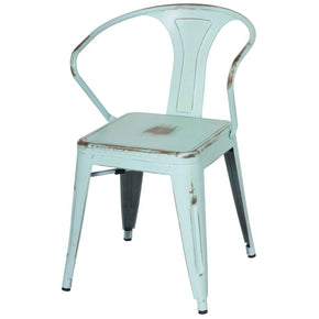 Blue Metal Chairs at Contemporary Furniture Warehouse: Accent Chairs ...