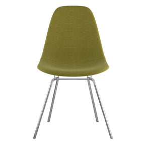 Mid Century Classroom Side Chair Avocado Green Stainless Steel With Brushed Nickel Finish Dining