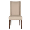 Morgan Dining Chair (Set of 2) Natural Fabric & Rustic Java