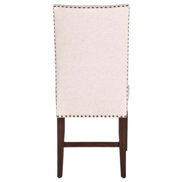 Wilshire Dining Chair (Set Of 2) Natural Fabric And Rustic Java