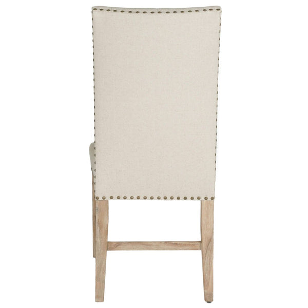 Wilshire Dining Chair (Set Of 2) Natural Fabric And Stone Wash