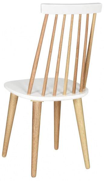 Dining Chairs - Safavieh AMH8511E-SET2 Burris Spindle Side Chair Natural / White (Set of 2) | 889048075184 | Only $159.80. Buy today at http://www.contemporaryfurniturewarehouse.com