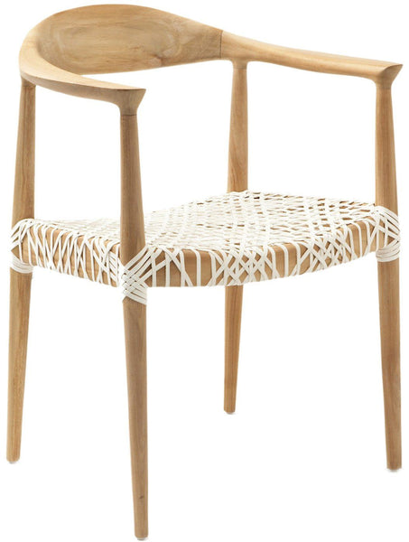 Bandelier Arm Chair Light Oak / Off White Dining
