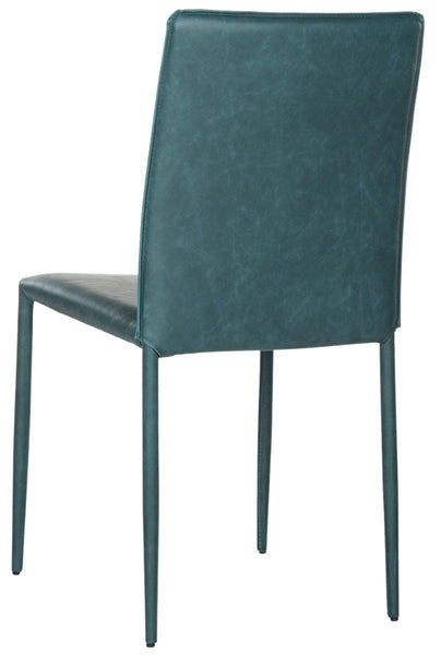 Karna Dining Chair Antique Teal (Set Of 2) Bonded Leather