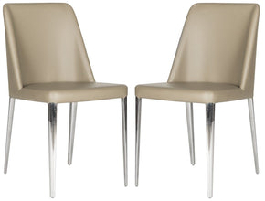 Baltic Side Chair Taupe Leather (Set Of 2) Dining