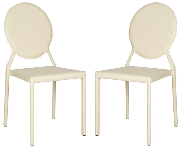 Warner Round Back Side Chair Buttercream (Set Of 2) Dining