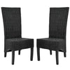 Siesta Wicker Side Chair (Set Of 2) Black Dining