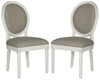 Holloway Oval Side Chair Light Grey (set of 2)