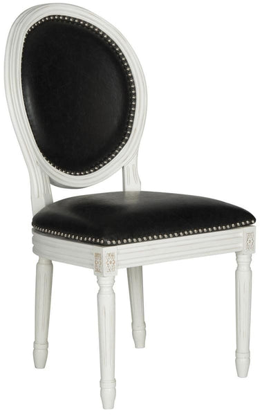 Holloway Oval Side Chair Black Pu (Set Of 2) Dining