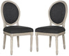 Holloway Oval Side Chair Charcoal (Set Of 2) Dining