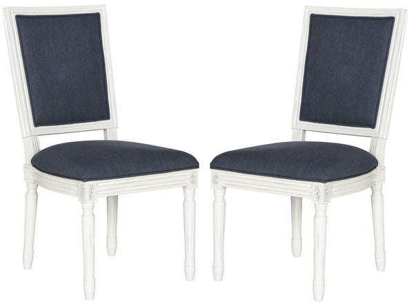 Buchanan Rect Side Chair Navy (Set Of 2) Dining
