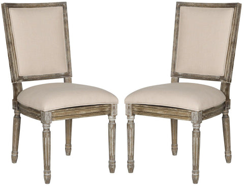 Buchanan Rect Side Chair Beige (Set Of 2) Dining