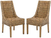Dining Chairs - Safavieh FOX6503A-SET2 Suncoast Rattan Arm Chair (Set Of 2) Brown | 683726413653 | Only $279.80. Buy today at http://www.contemporaryfurniturewarehouse.com