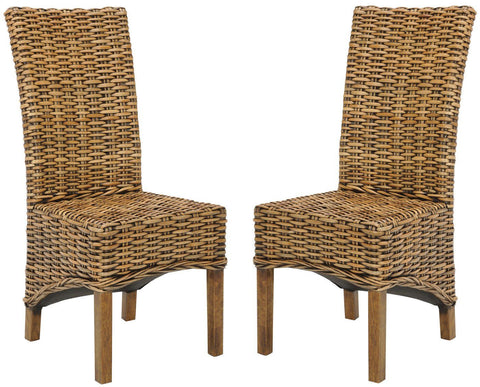 Isla Rattan Side Chair (Set Of 2) Brown Dining