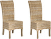 Quaker Rattan Side Chair Natural Unfinished (Set Of 2) Dining