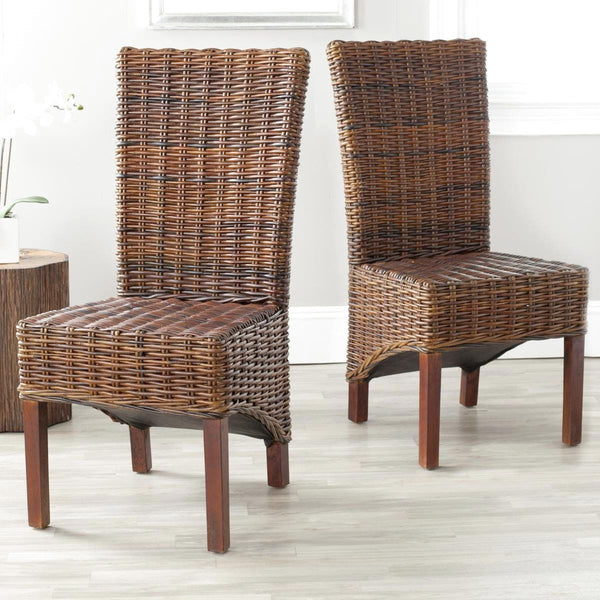 Ridge Rattan Side Chair Croco Color (Set Of 2) Dining