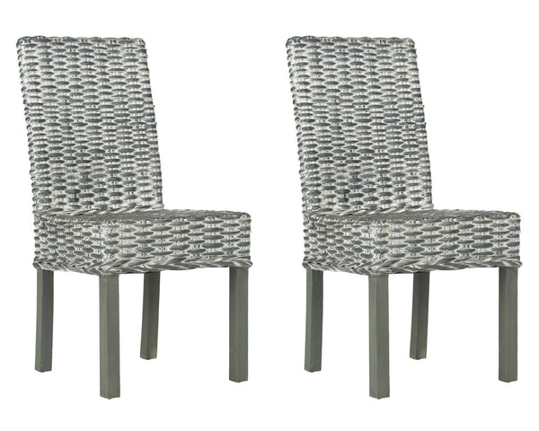 Wheatley Rattan Side Chair Grey White Wash Dining