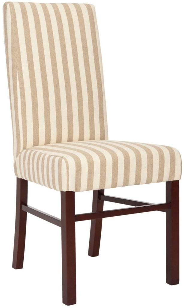 Classic Side Chair (Set Of 2) Cream/ Tan Stripe Dining