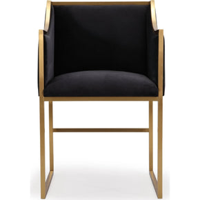 Etonnant Atara Black Velvet Gold Chair