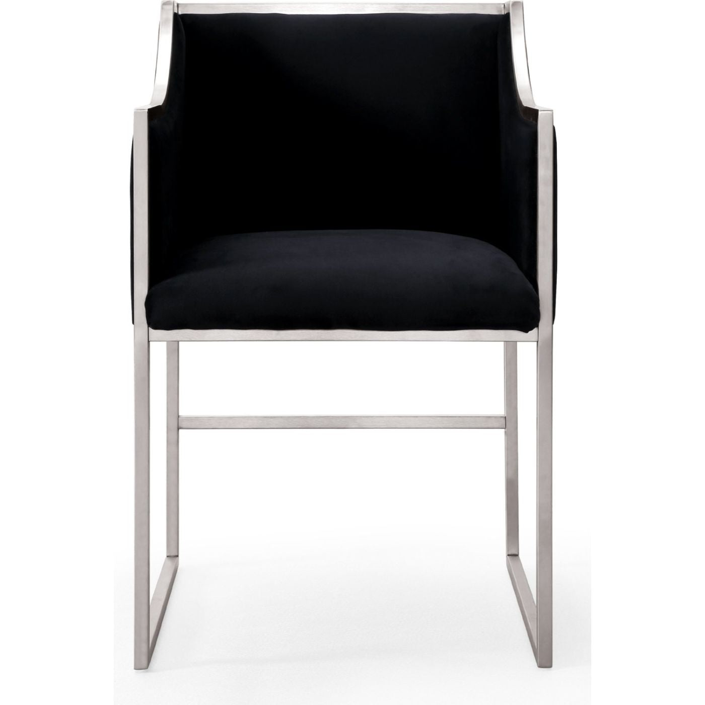 silver chairs at contemporary furniture warehouse