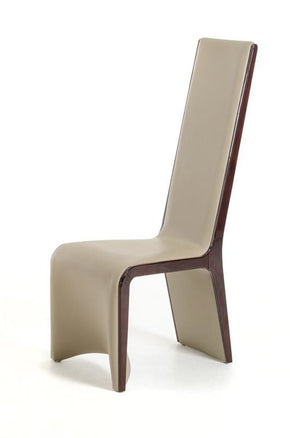 Modrest Pacer Modern Ebony And Taupe Dining Chair (Set Of 2)