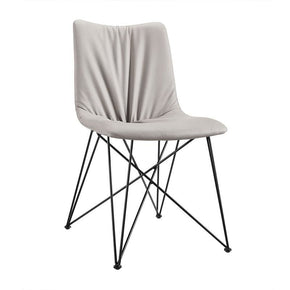 Modrest Naomi Modern Grey Leatherette Dining Chair (Set Of 2)