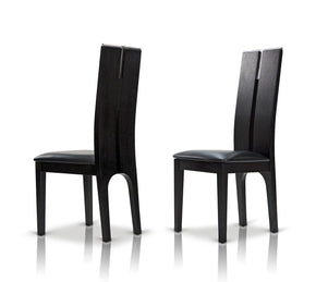 Modrest Maxi Black Oak Chair (Set Of 2) Dining