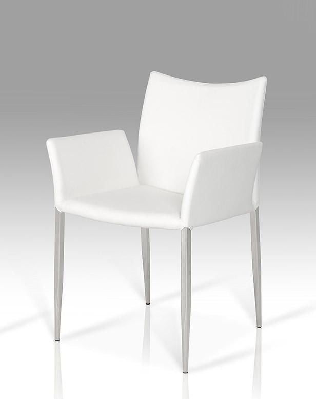 Modrest Avril Modern White Leatherette Dining Chair