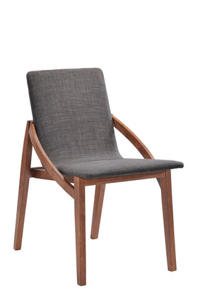 Modrest Jett Modern Grey Fabric Dining Chair (Set Of 2)