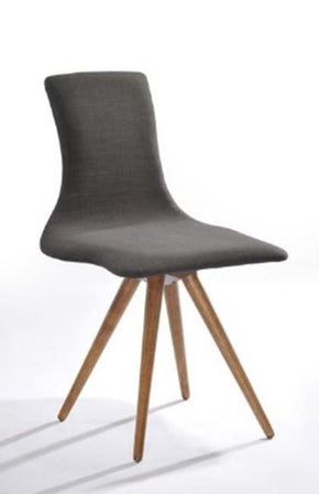 Modrest Tracer Scandinavian Modern Espresso Fabric Dining Chair (Set Of 2)
