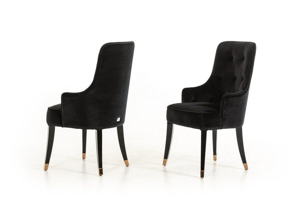 Vig Furniture VGUNCC016-BLK A&X Larissa Modern Black Velvet Dining Chair  sale at Contemporary Furniture Warehouse. Today only.