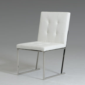 Modrest Click Modern White Leatherette Dining Chair (Set Of 2)