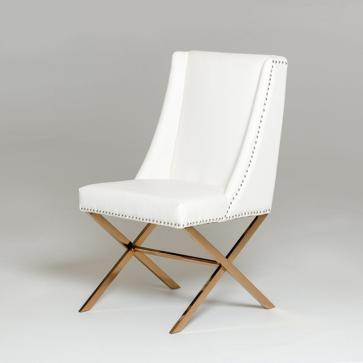 Cool Vig Furniture Vgvcb8356 Wht Modrest Modern White Rose Gold Dining Chair Sale At Contemporary Furniture Warehouse Today Only Dailytribune Chair Design For Home Dailytribuneorg